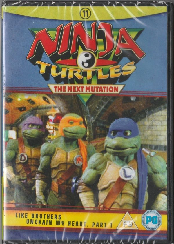 Ninja Turtles The Next Mutation Vol 11– Like Brothers & Unchain My Heart Part 1(DVD 1997 ) NEW N SEA